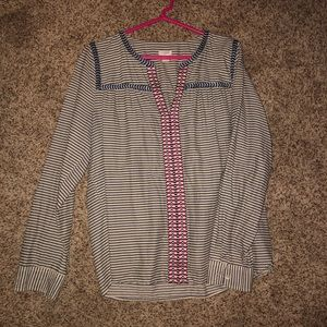 J. Crew Embroidered Top
